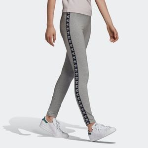 Adidas Trefoil Legging in Medium Heather Gray